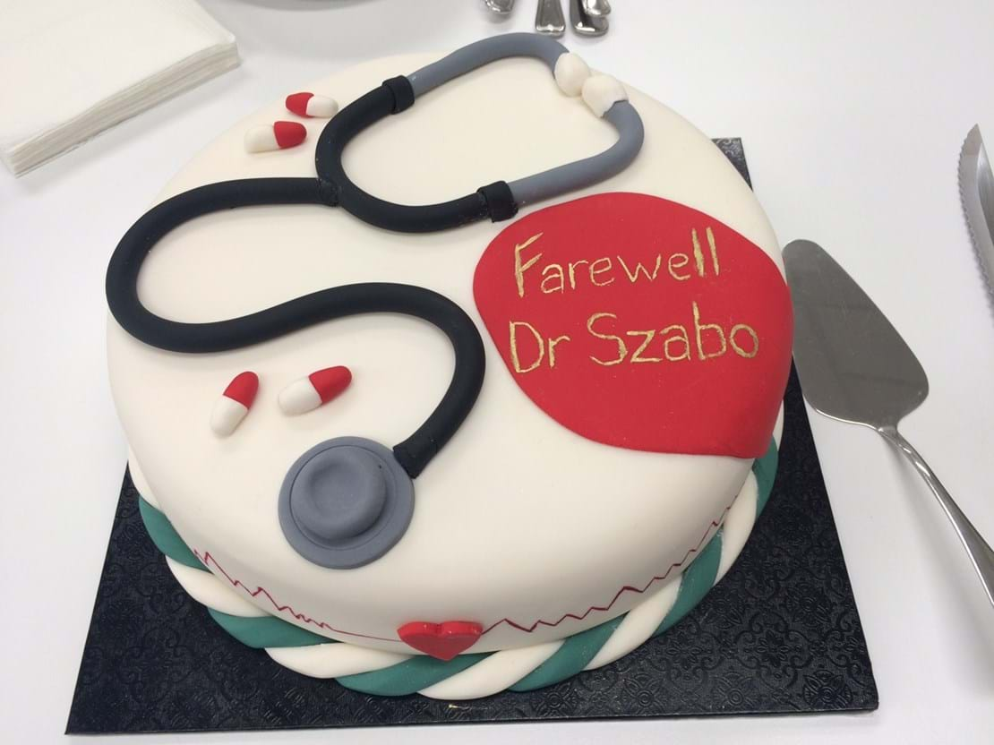 Happy retirement Dr. Les Szabo!